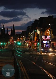 Princess Street, Edinburgh, evening