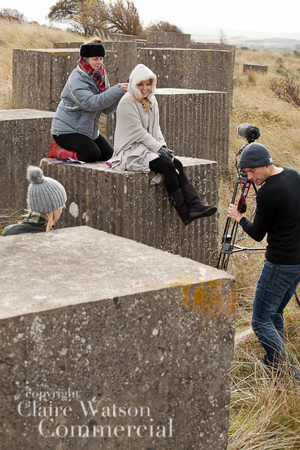Full team and camera Bass Rock Films | Us/Alone